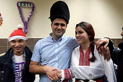 Folklore show for refugees at Vrazhdebna Center.